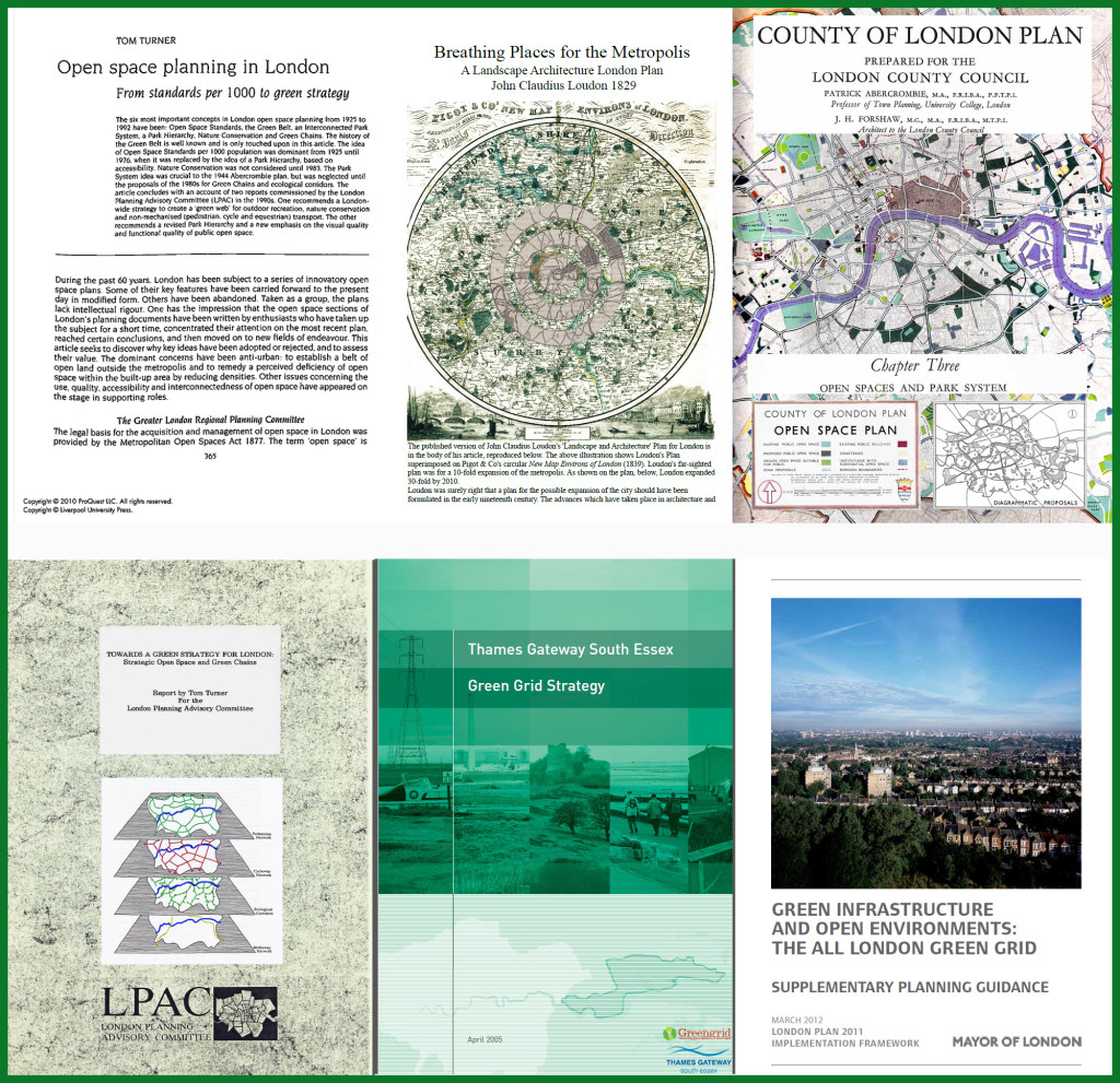 London Open Space, Greenway, Green Grid and Green Infrastruce Planning