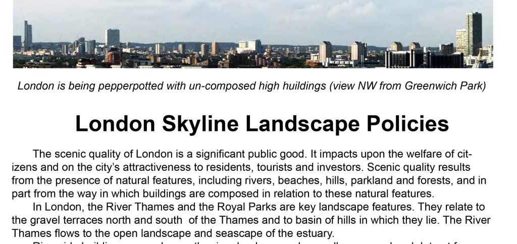 London needs an integrated landscape architecture policy for high buildings, skylines and roof landscapes