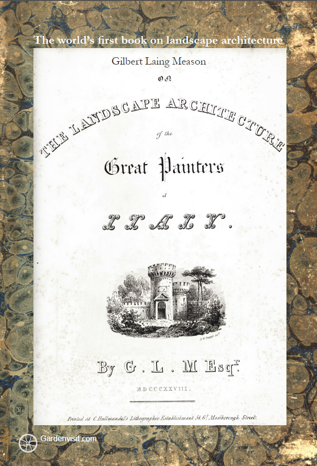 Gilbert Laing Meason's 1828 book is the origin of the term 'landscape architecture'