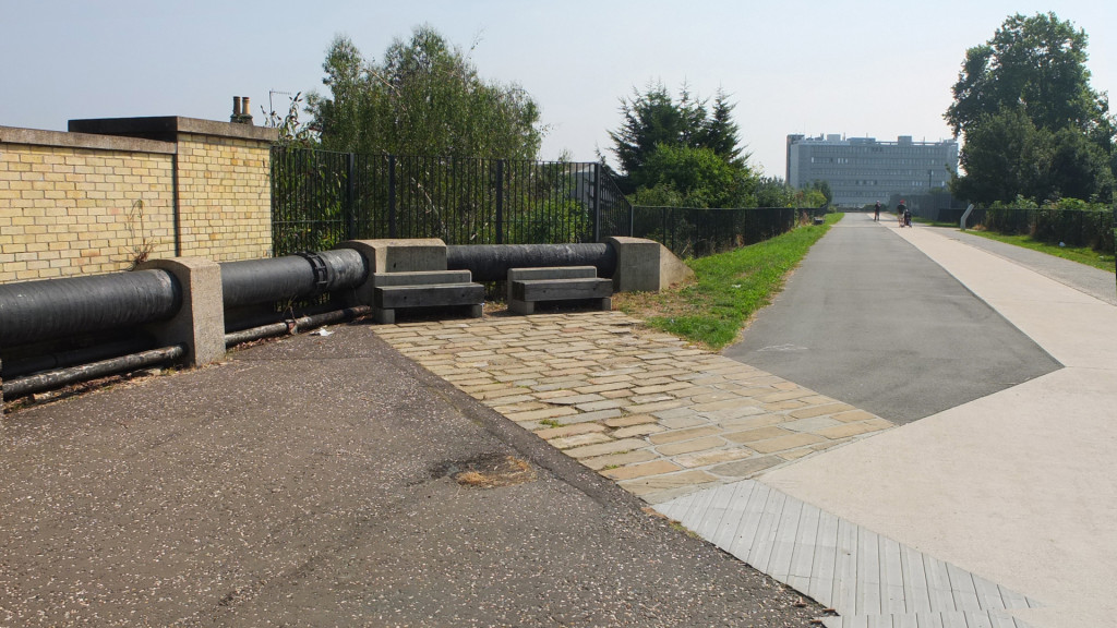 The west section of Newham's Greenway was upgraded by Adams & Sutherland for visitors to the 2012 Olympic Games