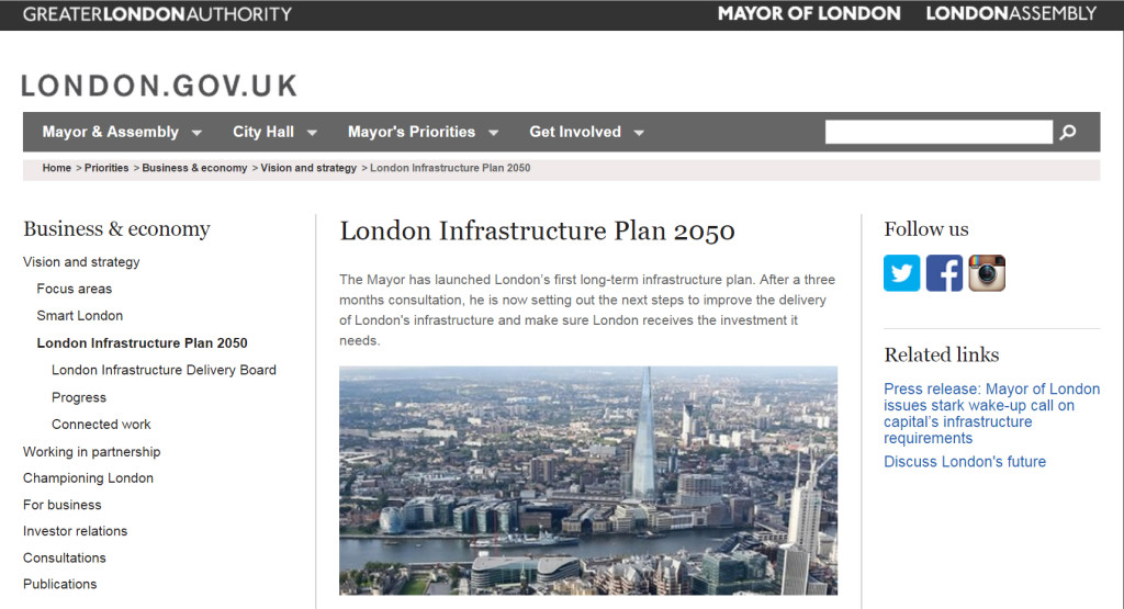 The London Green Infrastructure plan was revised after consultation