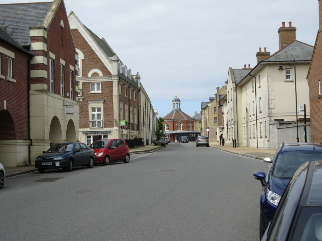 Poundbury, Bridport Road, looking to Butter Cross Square Bakery