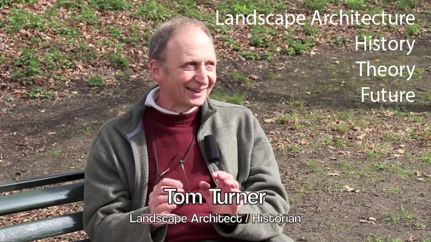 Tom Turner, interviewed about the history and theory of landscape architecture in Greenwich Park