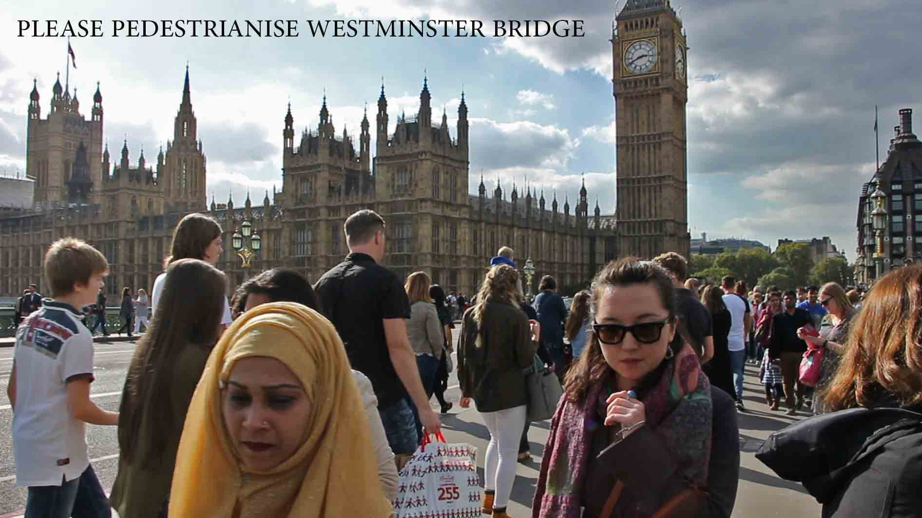 Westminster Bridge needs cycle lanes – and it also needs to be pedestrianised