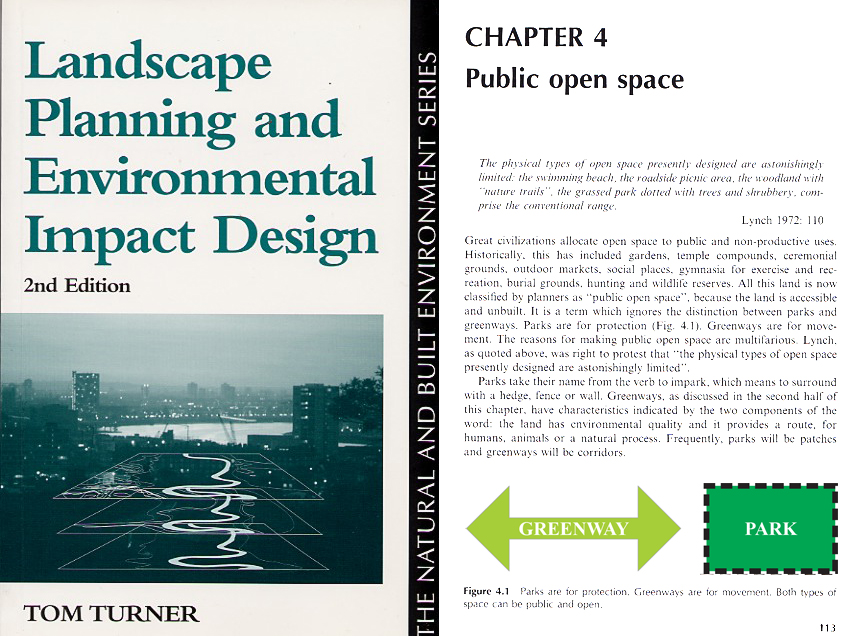 Urban landscape planning for parks and greenways