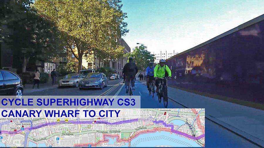CS3 is the busiest cycle path in the UK