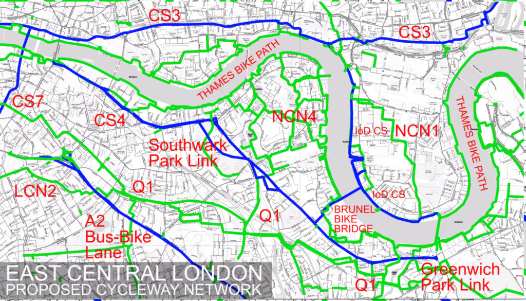 East Central London needs a cycle route network