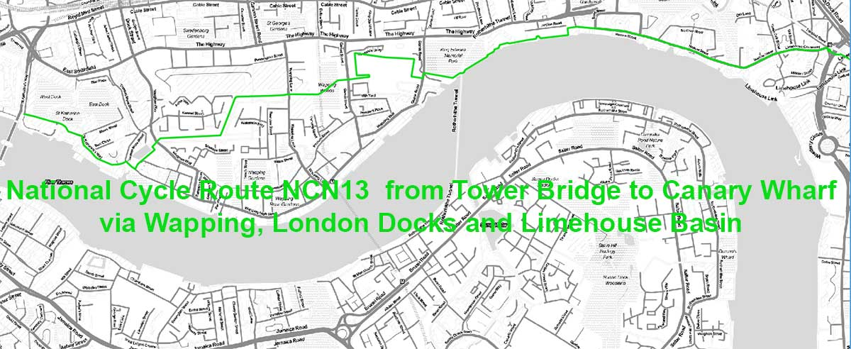 National Cycle Route NCN13 planned by Sustrans