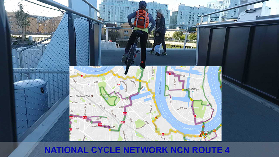 The London section of Sustrans National Cycle Route NCN4
